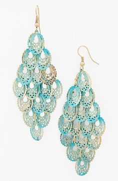 Carole Foiled Chandelier Earrings (Juniors) available at #Nordstrom
