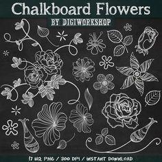 "Chalkboard Flower Clip Art Clipart: ""Chalkboard Flowers"" floral set contains chalkboard images of flowers, bird, vector chalk bird, flowers - chalkboard Chalkboard Clipart, Chalkboard Doodles, Chalkboard Writing, Chalkboard Drawings, Chalkboard Lettering, Chalkboard Designs, Chalkboard Ideas, Flower Clipart, Art Clipart"