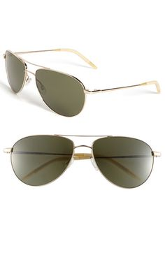 Nordstrom - Oliver Peoples 'Benedict' 57mm Aviator Sunglasses in Newton