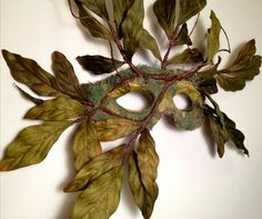 Nature+Spirit+Tree+Mask+Wearable+Wall+Art+Green+by+CedarfoxStudios,+$135.00