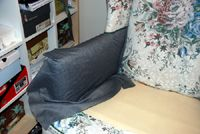 Part 2 of a detailed slipcover tutorial - how to drape the slipcover, pinning all the pieces together