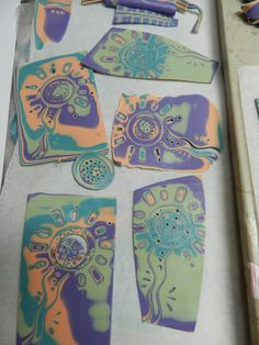 Mokume Gane wtih Julie Picarello via Sculpey.  Nice pictures and detail.  Her tools are always fascinating~ Polymer Clay Tutorials