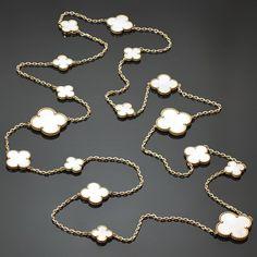 Van Cleef & Arpels Magic Alhambra Mother-of-Pearl 16 Motif Long Necklace 2