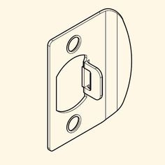Baldwin 8BR0403 Knob and Lever Square Corner Strike for Reserve Series