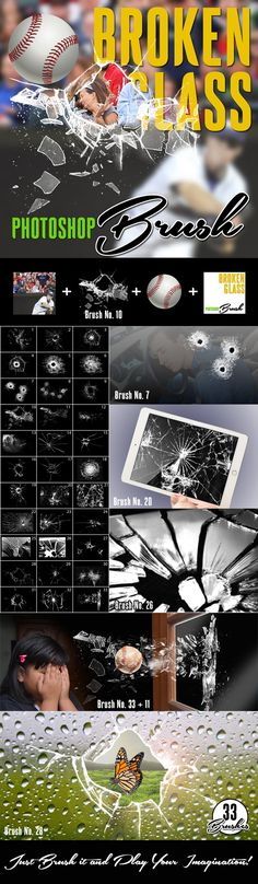 Broken Glass Photoshop Brush #ps #design Download: http://graphicriver.net/item/broken-glass-photoshop-brush/9691724?ref=ksioks