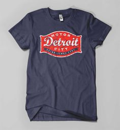 Detroit Buckle Navy American Apparel by DetroitShirtCompany, $25.00