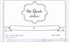 Free Blogger Template -- 7th Grade Rebellion - from BloggerCandy.com