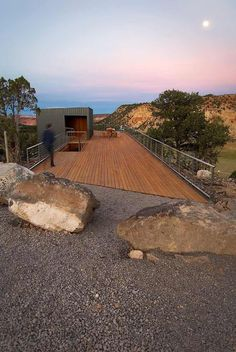 This is an awesome and beautiful wooden outdoor deck design that is simple and rustic in nature. This seems bit usual and delightful project for the ornamentation of your roof-top area. You can easily design out this project for to transform your ordinary outdoor into something exceptional.