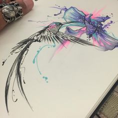 80 + atemberaubende Aquarell Kolibri Tattoo – Bedeutung und Designs Stunning Watercolor Hummingbird Tattoo – Meaning and Designs # Mandala Tattoo Design, Paisley Tattoo Design, Tattoo Designs, Tattoo Ideas, Watercolor Hummingbird, Watercolor Tattoo, Watercolor Dreamcatcher, Trendy Tattoos, Tattoos For Guys