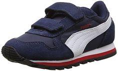 Puma ST Runner NL V Kids, Unisex-Kinder Sneakers, Blau (peacoat-white-high risk red 03), 33 EU (1 Kinder UK) - http://on-line-kaufen.de/puma/33-eu-puma-st-runner-nl-v-kids-unisex-kinder-2