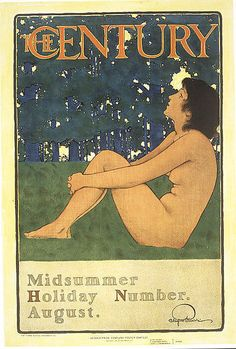 Century Midsummer Holiday cover by Maxfield Parrish, August 1896. Second Prize, Century Poster Contest, 1897