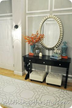 Floor-geous! Brooke from All Things Thrifty shares her amazing stenciled floor project using our Contempo Trellis stencil!