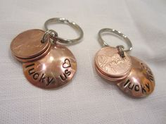 Two pennies - one the year you met the other the year you were married.  Cute gift idea!