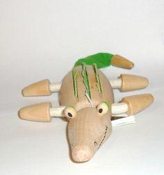Stocking Stuffer Anamalz Crocodile eco wooden toy