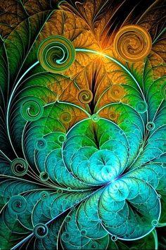 Art - Digital Fractal by Wesley Phillips - Please consider enjoying some… Fractal Images, Fractal Art, Fractal Design, Wow Art, Motif Floral, Art Graphique, Sacred Geometry, Amazing Art, Fantasy Art