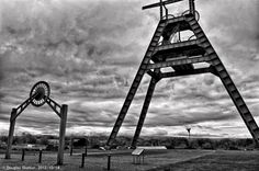 The Barony 'A' Frame near Auchinleck, a memorial to the area's mining past