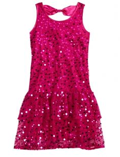 Sequin Bow Back Party Dress from Justice on shop.CatalogSpree.com, your personal digital mall.