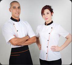 Roupas Profissionais Dortmund Restaurant Uniforms, Stylish Mens Outfits, Work Wear, Chef Jackets, Couture, Shirts, Bakery, Image, Ideas