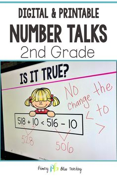 Your second grade students are guaranteed to love these engaging math talk activities. These common core aligned math problems are highly engaging, fun, and are the perfect way to get your classroom happily chatting about math. Grab your set today! First Grade Lessons, Second Grade Math, Math Lessons, Math Fact Practice, Math Talk, Math Fact Fluency, Number Talks, Math Lesson Plans, Math Strategies