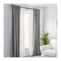 ALVINE SPETS Lace curtains, 1 pair  - IKEA The inside curtains, they have a scalloped edge. $12.99 pr