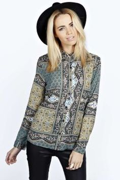 Rae Tile Print Long Sleeve Blouse. Get unbelievable discounts up to 60% Off at Boohoo using Coupon & Promo Codes.