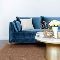 """For more informations check http://ift.tt/1VOYlZj Caitlin. She's everyone's best friend. The perfect combination of elegant and relaxed just like her namesake (@caitlintimson who happens to be our very first intern). It's The Everygirl's third sofa design in collaboration w/ @interiordefine; a modern take on an Old World feel w/ ultra luxe down filling to boot. The Caitlin Collection includes a 79"""" sofa chair and chaise sectional and is completely customizable from the fabric to the legs…"""