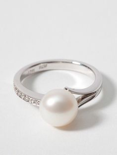 Pearl & diamond ring - Engagement Rings - Jewellery
