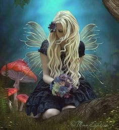 Stock credits : No title - Stock Elven Forest backgrounds Daisy Bouquet PNG Wings Butterfly Glitter PSD Fantasy Flower V 06 ƬӇƛƝƘƧ Ƒ& Foto Fantasy, Fantasy Kunst, 3d Fantasy, Fantasy World, Fairy Land, Fairy Tales, Elfen Tattoo, Elves And Fairies, Fairy Pictures