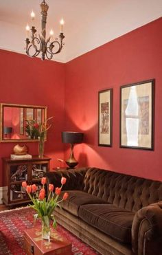 Living Room with Red Walls. 20 Living Room with Red Walls. Red Walls Traditional Living Room In High Gloss Cherry Red Living Room Red, Paint Colors For Living Room, Interior Design Living Room, Living Room Designs, Interior Paint, Red Paint Colors, Wall Colors, Red Home Decor, Bedroom Red