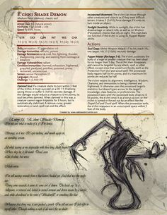 """1am here - a perfect time to throw up another homebrew! This one is a page from a little handbook I'm working on, titled """"Barrowborn's Big Book of Bounties"""". Inspired by Volo's Guide and the ridiculously hardy NPC that is Barrowborn Irondrake, I'm..."""