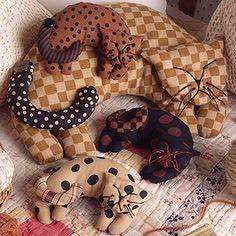 Catnap Cuddle-Ups Sewing Patterns ePattern - Leisure Arts