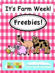 It's Farm Week! Get Your Freebies from HeidiSongs!