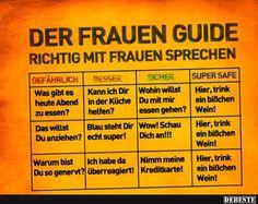 Der Frauen-Guide   Lustige Bilder, Sprüche, Witze, echt lustig