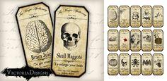 Printable Halloween Apothecary Labels by VectoriaDesigns.deviantart.com on @deviantART #printables