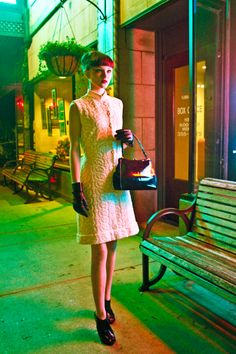 """From the photo shoot """"City at Night"""" with model Carolyn Jernigan. Photographed by Emma Kathan for Psychic Gloss Magazine."""
