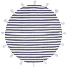 Band of Martians Tassel stripe round blanket ($205) ❤ liked on Polyvore featuring home, bed & bath, bedding, blankets, stripe bedding, round bedding, round blanket, striped bedding and stripe blanket