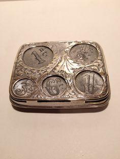 Antique coin case