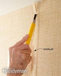 How to Wallpaper - Article: The Family Handyman Wallpaper Roller, Hand Wallpaper, Hanging Wallpaper, Wallpapering Tips, Natural Sponge, How To Install Wallpaper, Garden Shop, Used Vinyl, Wall Treatments