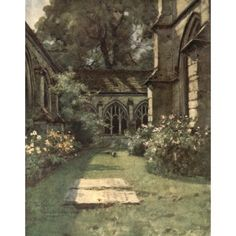 Posterazzi Winchester 1910 Cloisters & Fromonds Chantry Winchester College Canvas Art - Wilfrid Ball (24 x 36)