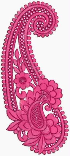 Summer Patch work hot pink stitching sewing design fabric flowers embroidered  #pink