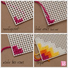 Discover thousands of images about Resultado de imagen de Common Plastic Canvas StitchesCreate a DIY Plastic Canvas Glasses Case with this slightly retro feeling geometric patterned DIY tutorial with photos and step by step instructions. Broderie Bargello, Bargello Needlepoint, Needlepoint Stitches, Needlepoint Kits, Needlepoint Canvases, Plastic Canvas Stitches, Plastic Canvas Coasters, Plastic Canvas Tissue Boxes, Plastic Canvas Crafts