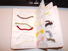 Great use of a Moleskine Notebook - a yarn journal and needle inventory #knitting #organizing
