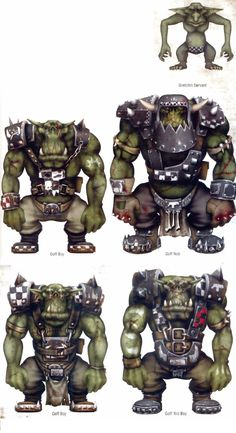 WH40K Ork Goffs http://images.wikia.com/warhammer40k/images/2/23/Goffs_Updated_Appearance.jpg