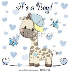 Buy Baby Shower Greeting Card with Giraffe Boy by on GraphicRiver. Baby Shower Greeting Card with cute Cartoon Giraffe boy Tatty Teddy, Baby Shower Greetings, Baby Shower Greeting Cards, Baby Shower Giraffe, Cute Giraffe, Cartoon Giraffe, Cute Cartoon, Album Baby, Dibujos Baby Shower