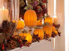 Beautiful pumpkins become even more spectacular when lit!