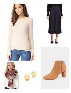 Balance a feminine, pleated skirt with a cozy knit for a chic Fall look!