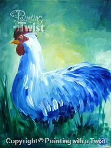 """Blue Rooster """"ONLY A FEW SEATS LEFT"""" - Jackson, TN Painting Class - Painting with a Twist"""