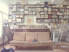 I want a house with walls covered in books