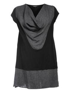 Linen-cotton blend cowl neck dress by Hebbeding. Shop now: http://www.navabi.us/dresses-hebbeding-linen-cotton-blend-cowl-neck-dress-black-anthracite-13984-2433.html?utm_source=pinterest&utm_medium=social-media&utm_campaign=pin-it