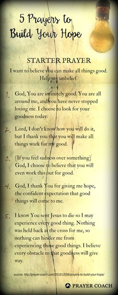 5 Prayers to Build Your Hope